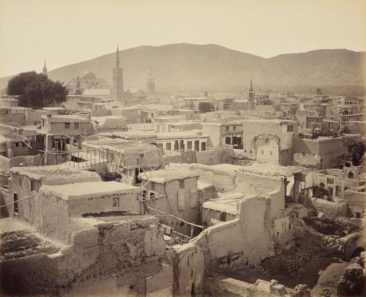 30 апреля 1862. Дамаск. Панорама с минарета в христианском квартале