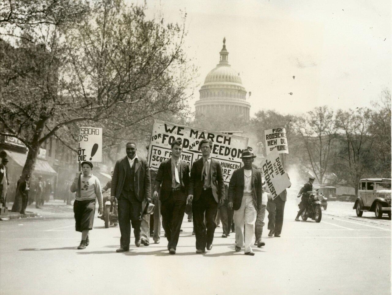 1933. Коммунистический парад, Вашингтон, округ Колумбия