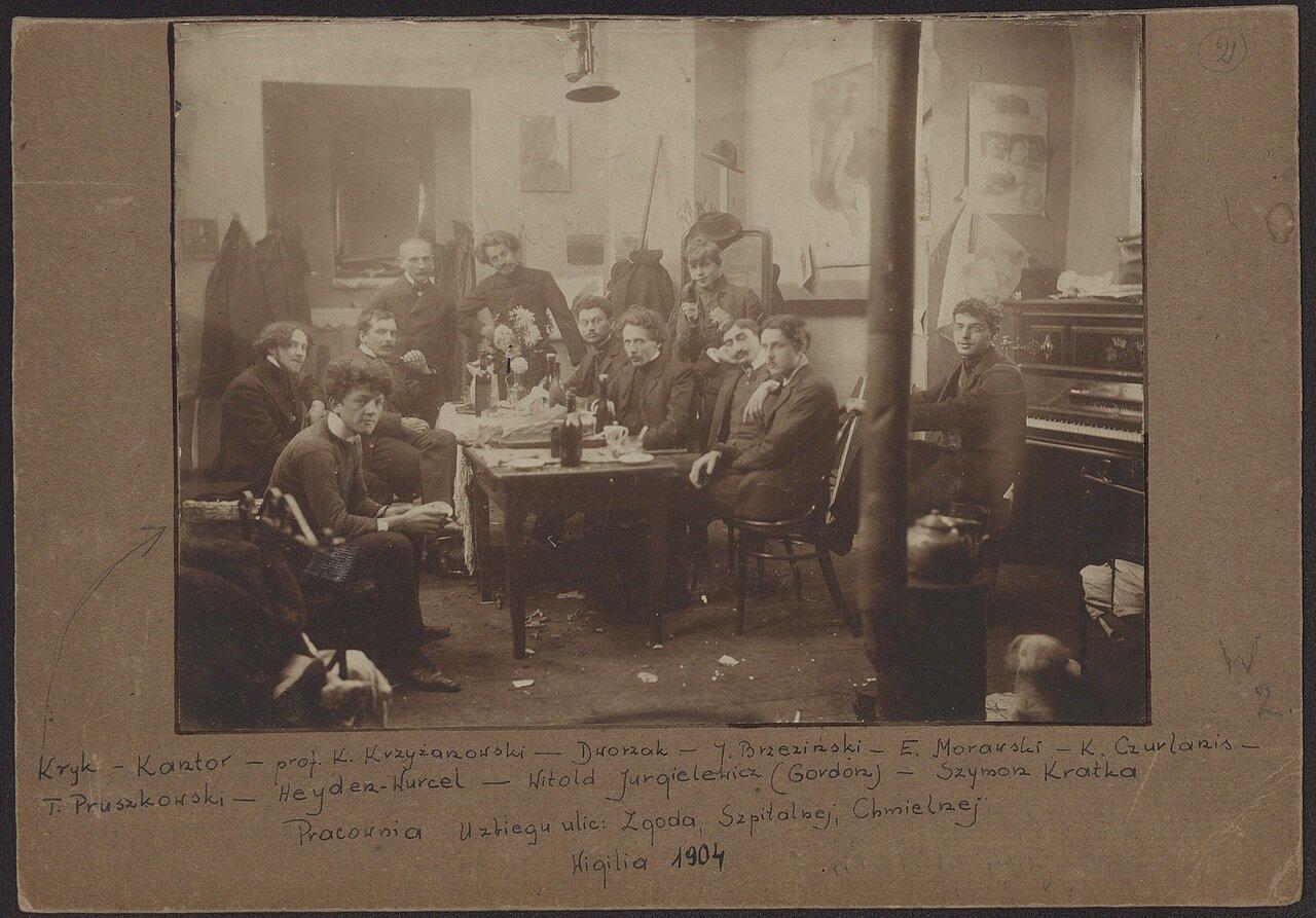 Сочельник 1904 года в студии Варшавской школы изящных искусств