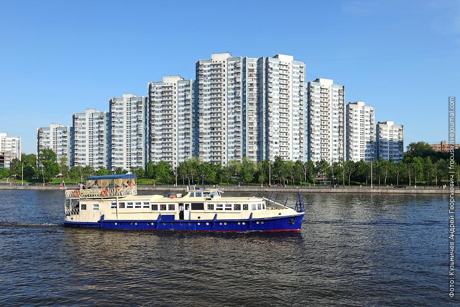19 мая 2013 года 18:38. Южный речной порт. Москва-река. «Банкетник» «Апельсин». Переделка из МО, проект 839А, 839А-03, 1959 года постройки
