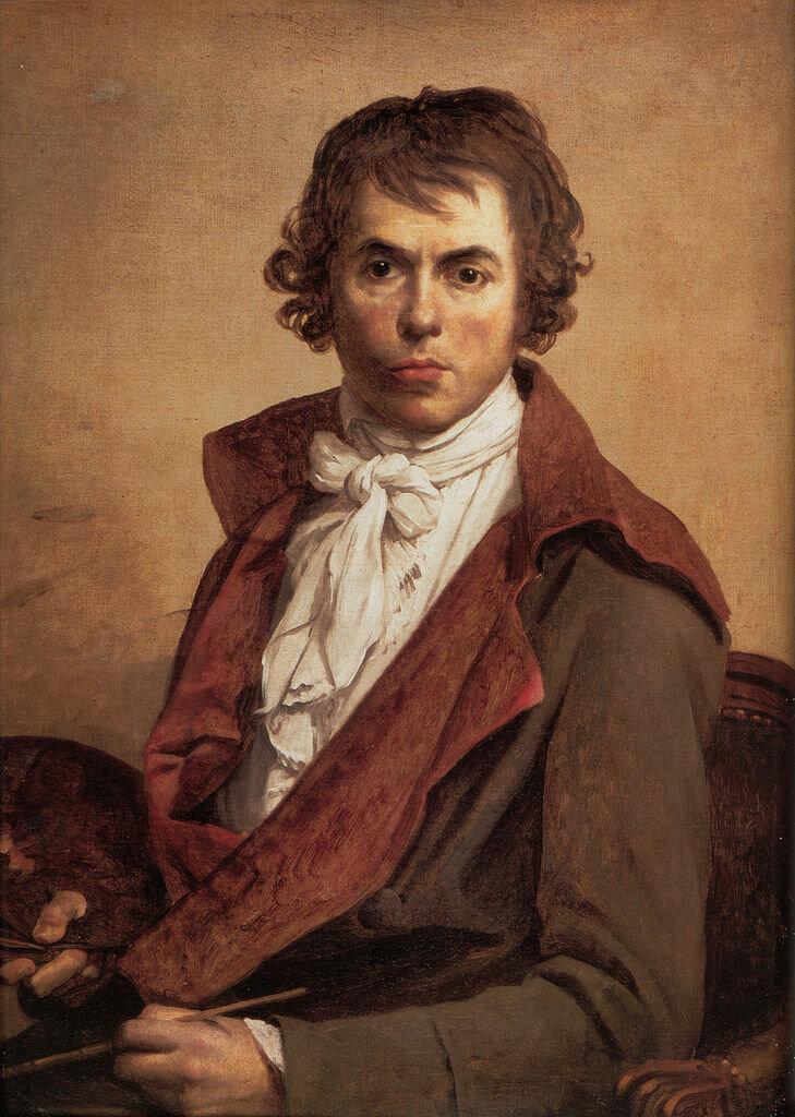 Автопортрет, 1794, Жак-Луи Давид, (1748-1825) Музей Лувр