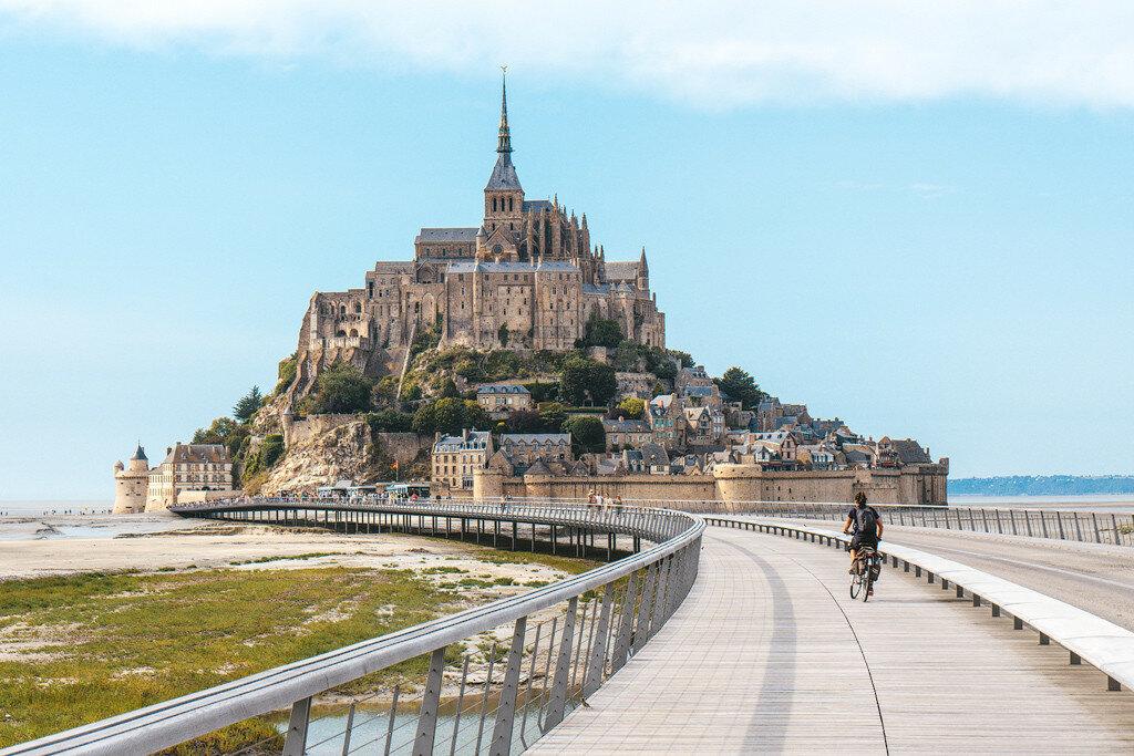 Как добраться до Мон-Сен-Мишель из Парижа и Ренна. Фото Мон-Сен-Мишель.