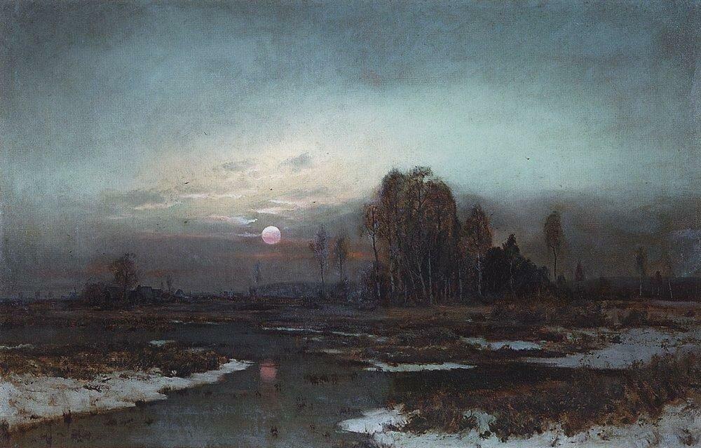 Осенний пейзаж с заболоченной рекой при луне. 1871.jpg