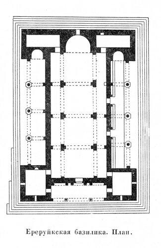 Ереруйкская базилика, план