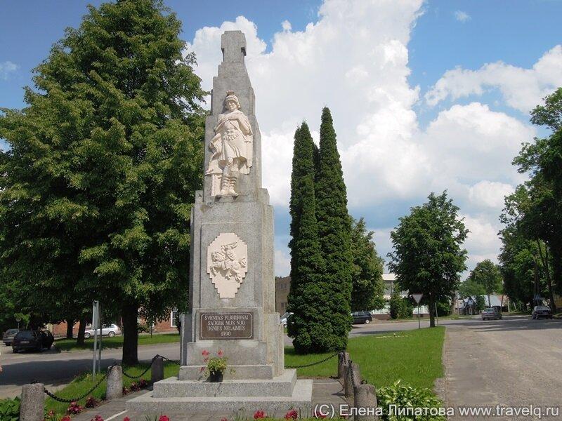 Ужпаляй. Памятник Св.Флориану