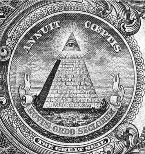 Пирамида на долларе.