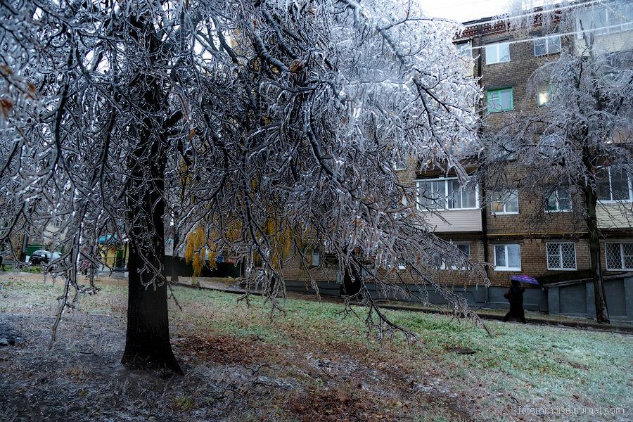 Ледяной дождь в Чебоксарах
