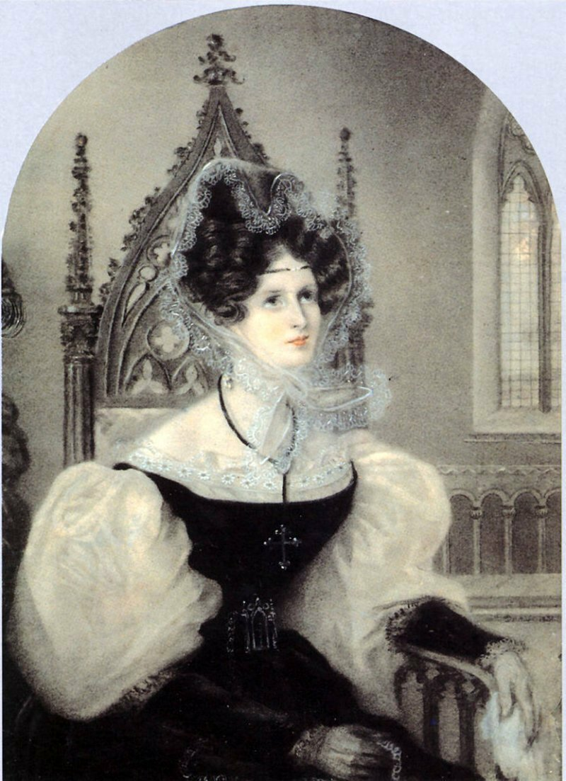 Портрет княгини З.А.Волконской (Данс и Амели Ромилли, 1831).