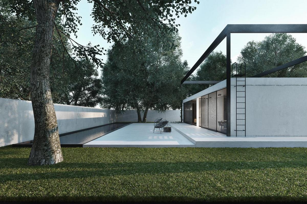 Игорь Сиротов, архитектор, дизайнер Игорь Сиротов, дом в стиле минимализма, одноэтажный дом, частный дом в пригороде Киева, план дома, схема дома