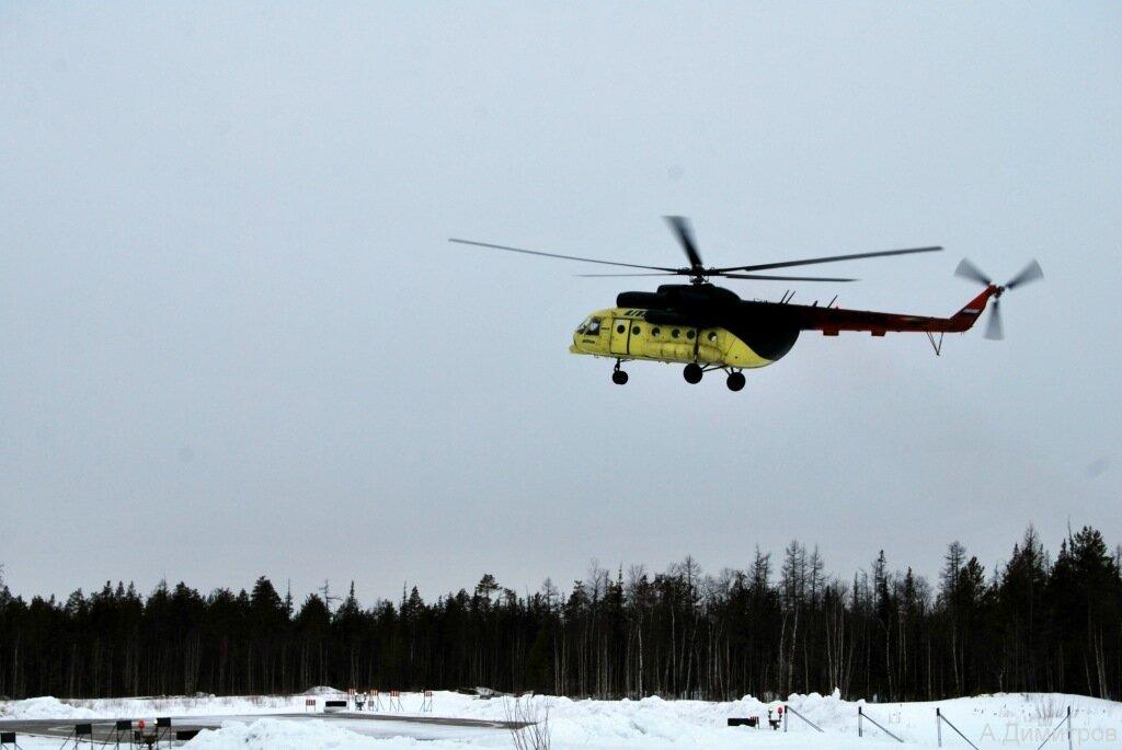 ХМАО.Сосновка. Вертолет Ми-8 UTair