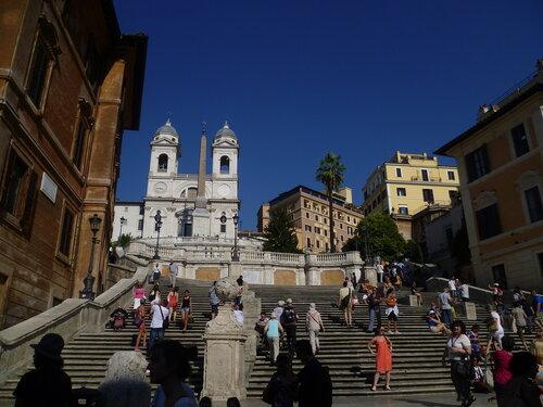 Италия, Рим - Испанская лестница на Piazza di Spagna (Italy, Rome - The Spanish Step).