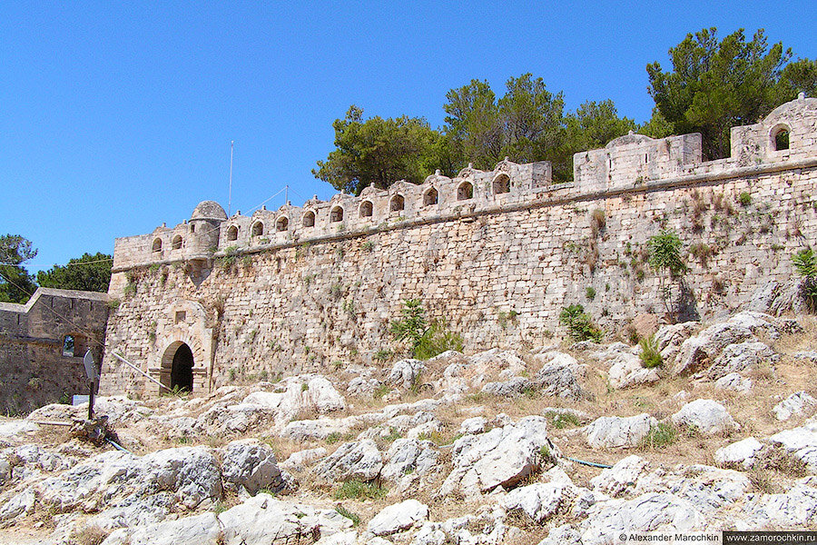 Венцианская крепость Фортецца в городе Ретимно (Крит, Греция)