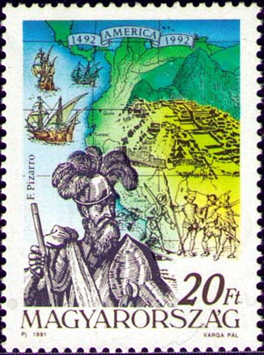 Портрет Франсиско Писарро, города инков, карта Перу..jpg