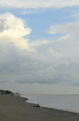 Облачность, лето, море