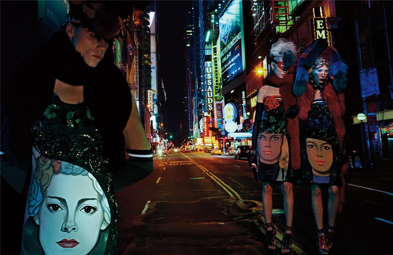Warrior Stance by Steven Klein in W Magazine march 2014 / Maria Borges, Lily Donaldson, Joan Smalls, Jamie Bochert, Catherine McNeil, Daria Strokous, Meghan Collison, Ajak Deng, Sun Feifei, Christina Kruse