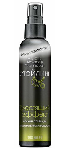 Лосьон-спрей для придания блеска волосам Блестящий эффект.