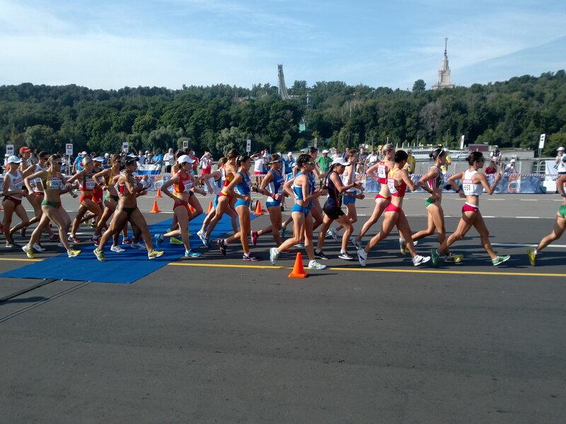Спортивная ходьба 20км, женщины