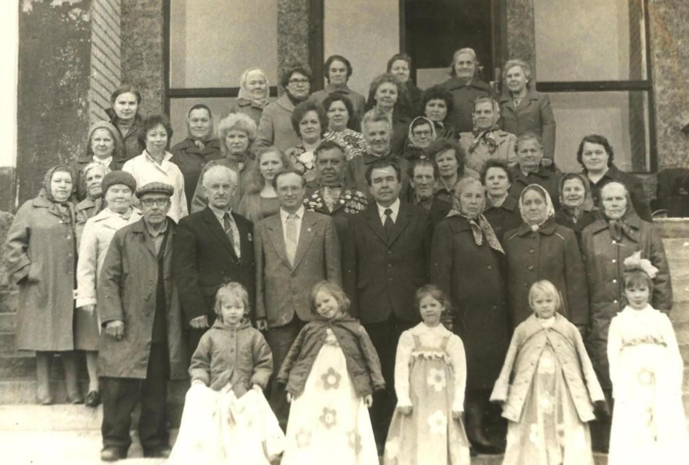 1989. Сотрудники Онежского узла связи