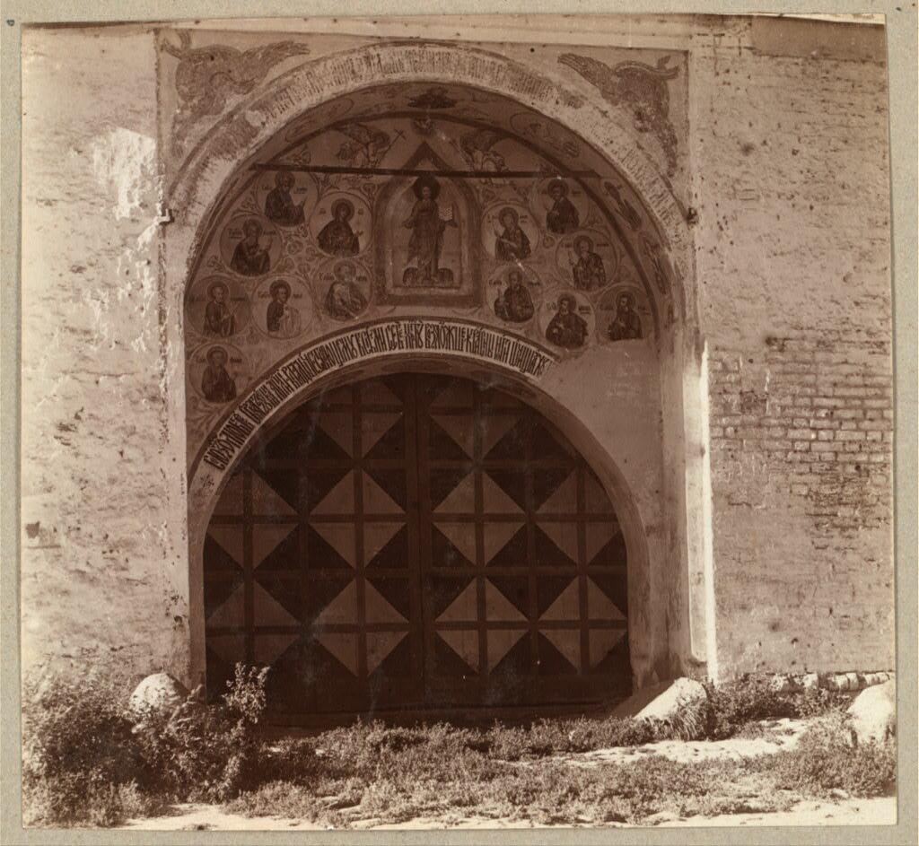 Врата Спасского монастыря [с юга]. Ярославль. 1910.