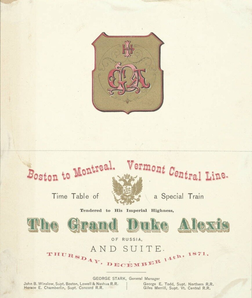 Билет спецпоезда Его Императорского Высочества великого князя Алексея