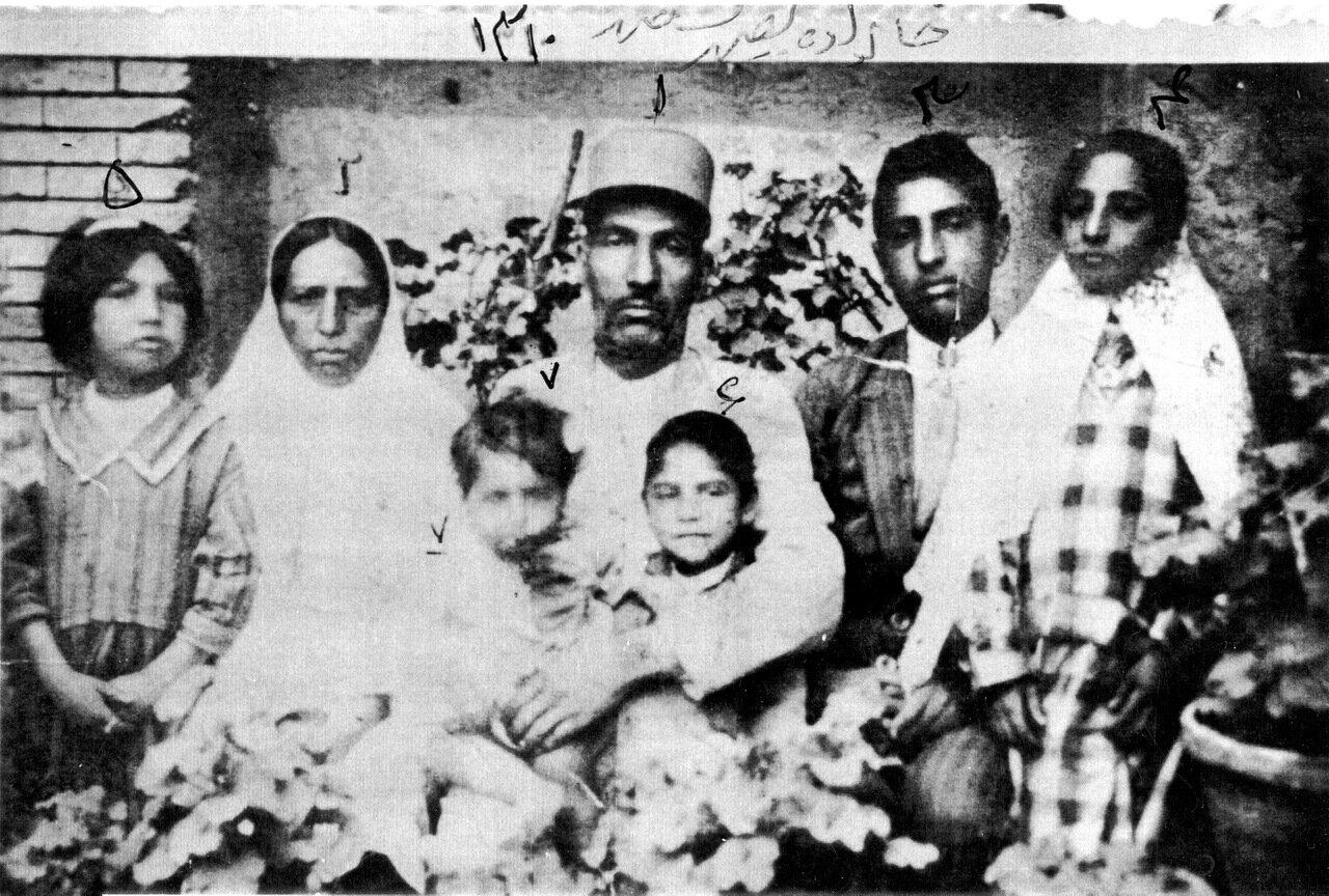 Раввин Меир Шалмах с семьей, Шираз, 1931