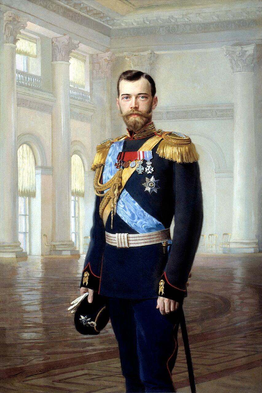 Липгарт Эрнест Карлович (1847-1932). Портрет императора Николая II, 1900