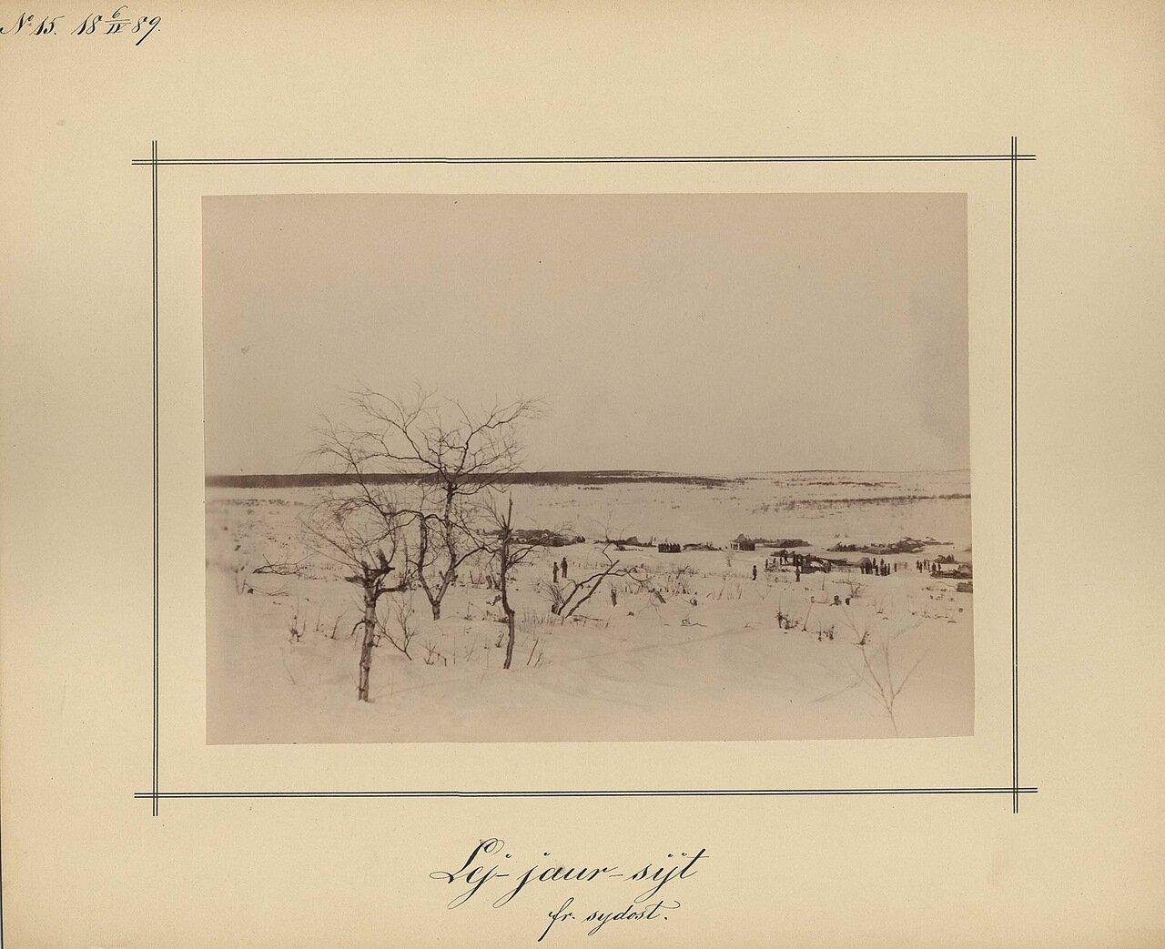 6.4.1889 Зимний пейзаж возле Ловозеро
