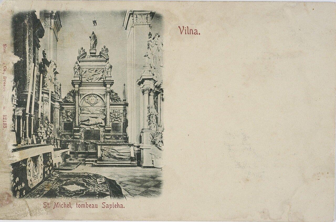 Костел св. Михаила, могила Сапеги