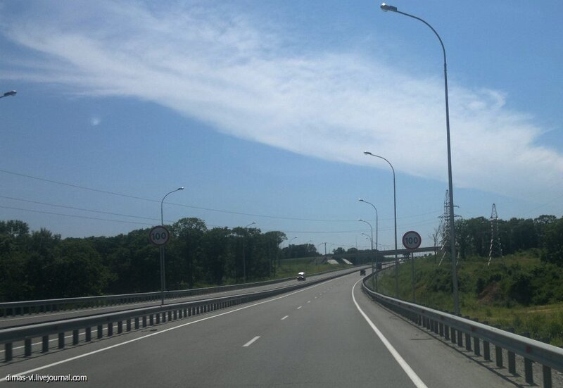Повышение скоростного режима на трассе до 100 км/ч. 14-июля-2013г