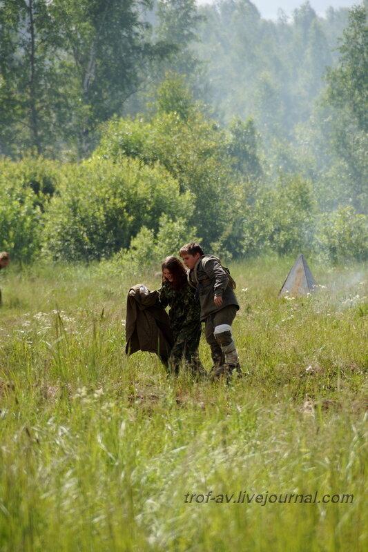 Раненый красноармеец. 22 июня, реконструкция начала ВОВ в Кубинке (2 часть)