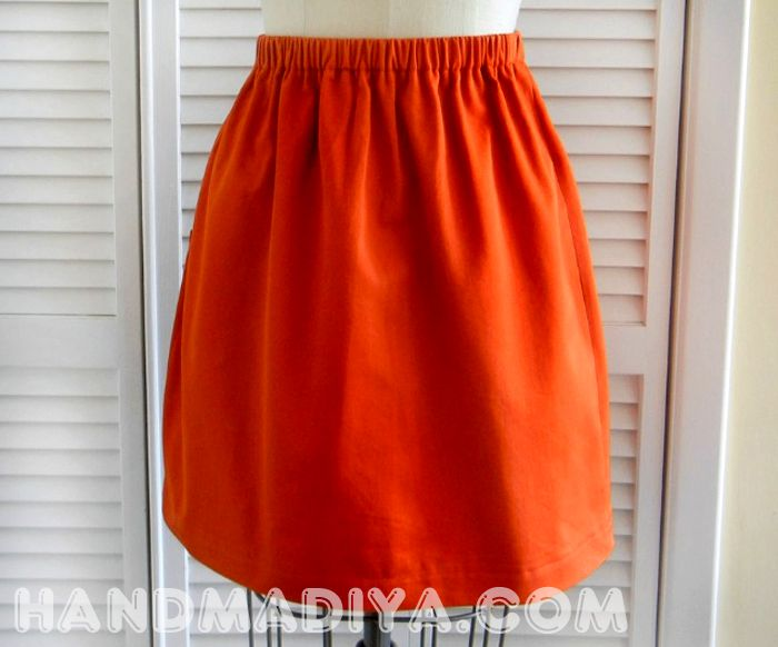 Шьем простую юбку. Sew a simple skirt. DIY tutorials