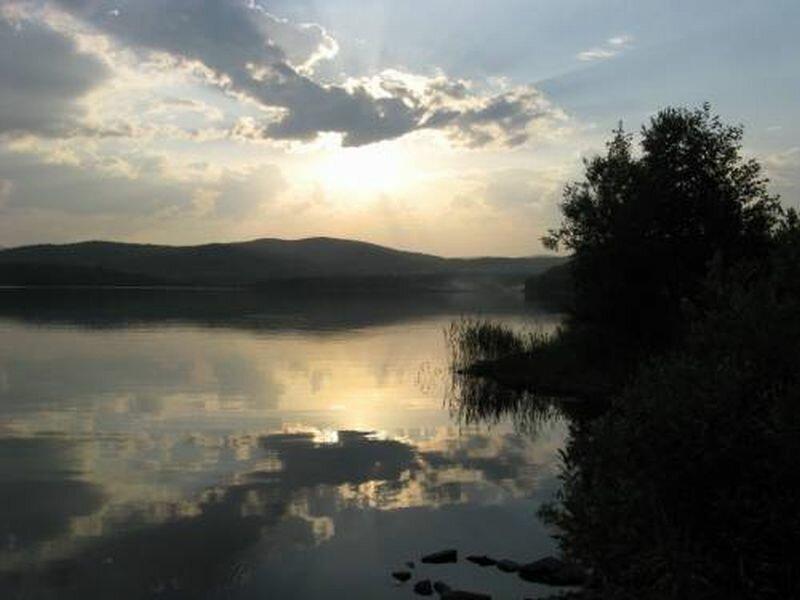 Закат на водохранилище (27.06.2013)