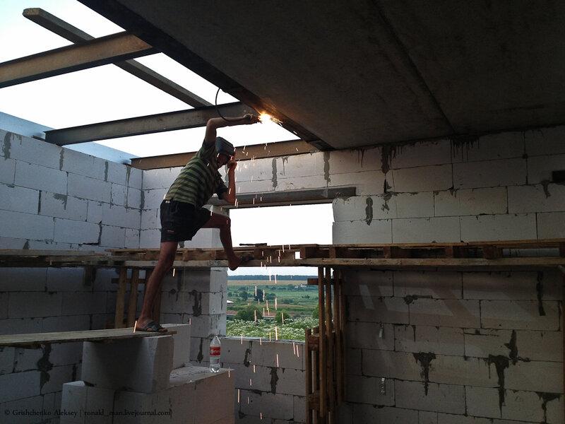 перекрытие второго этажа из бетона
