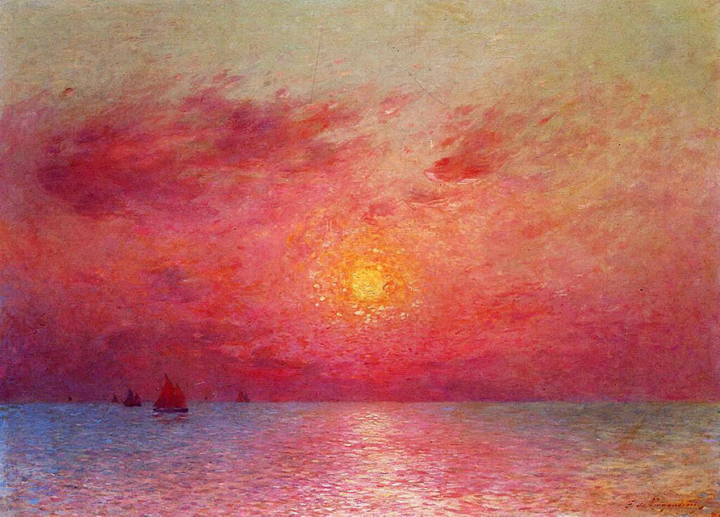 Ferdinand du Puigaudeau - Sailboats at Sea, Evening.jpeg