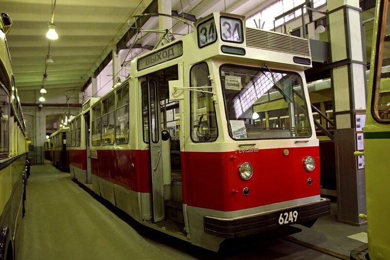 Трамвай ЛМ-68 №6249 «Аквариум» в музее городского электрического транспорта IMG_8755