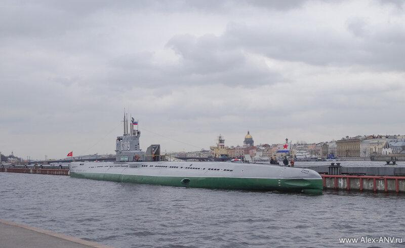 Подводная лодка С-189 - тоже музей.