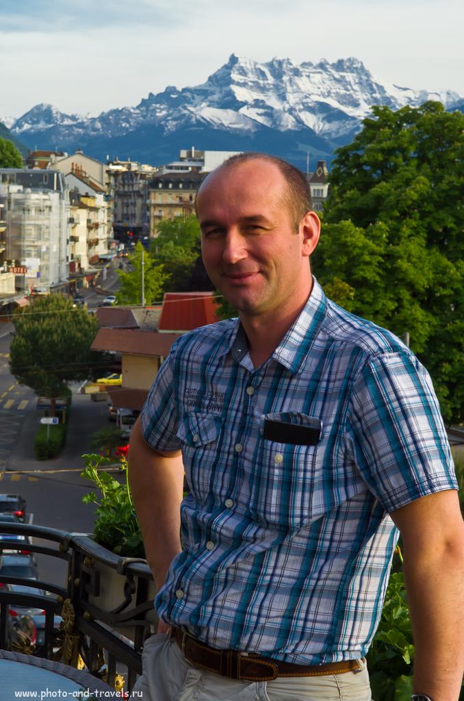 Фото 8. Курорт Montreux в Швейцарии. Снимать нужно стараться сразу правильно. Здесь мы выровняли линию горизонта, но обрезали левую руку