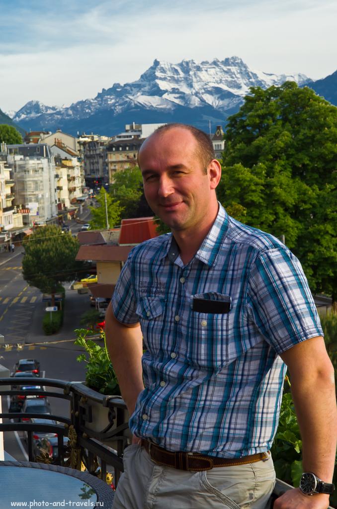 Фотография 7. Отзыв о путешествии в Швейцарию. В отеле в городе Монтрё. На кривой горизонт и отрезанные руки у профессиональных фотографов аллергия