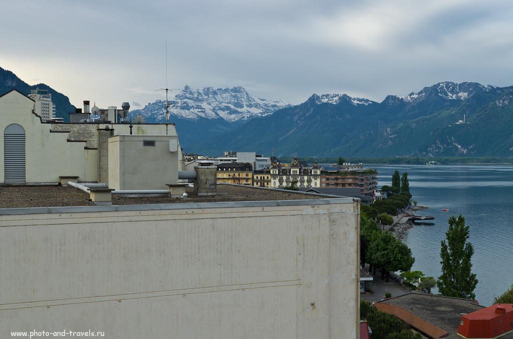 Фото 14. Поездка в Швейцарию. Вид из окна моего номера в Монтрё на следующее утро