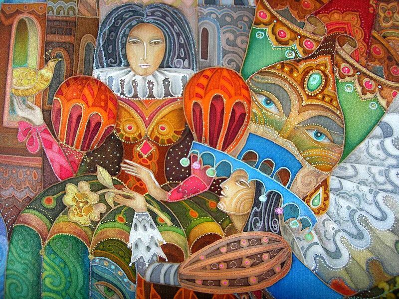 Любовь Тощева. Батик