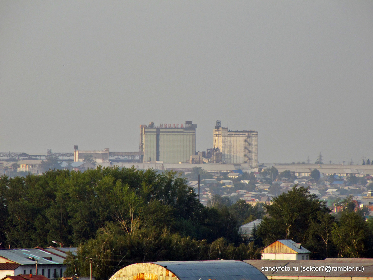 Виды города Троицка с горы