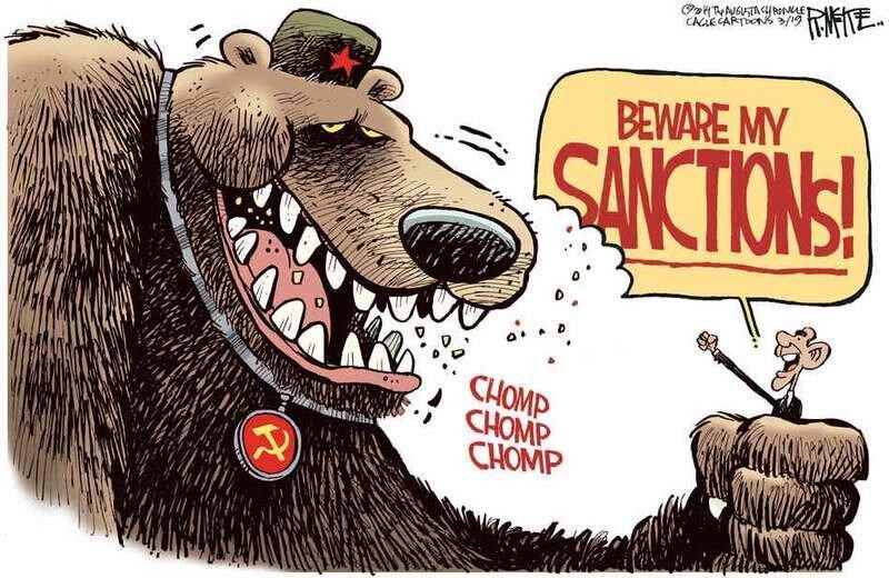 Санкции против России (Rick McKee)