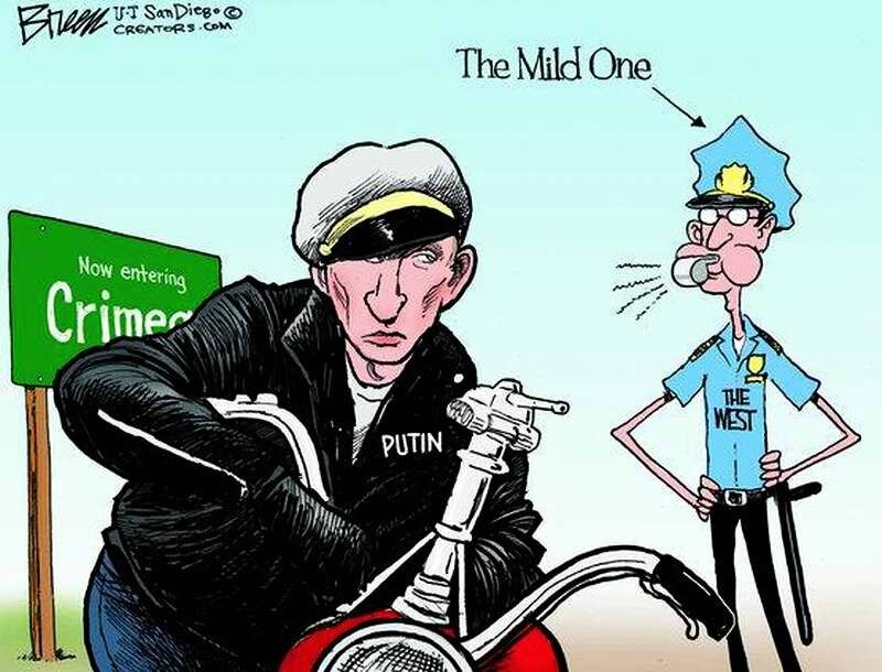 Грабитель Путин и добродушный американский полицейский (Steve Breen)
