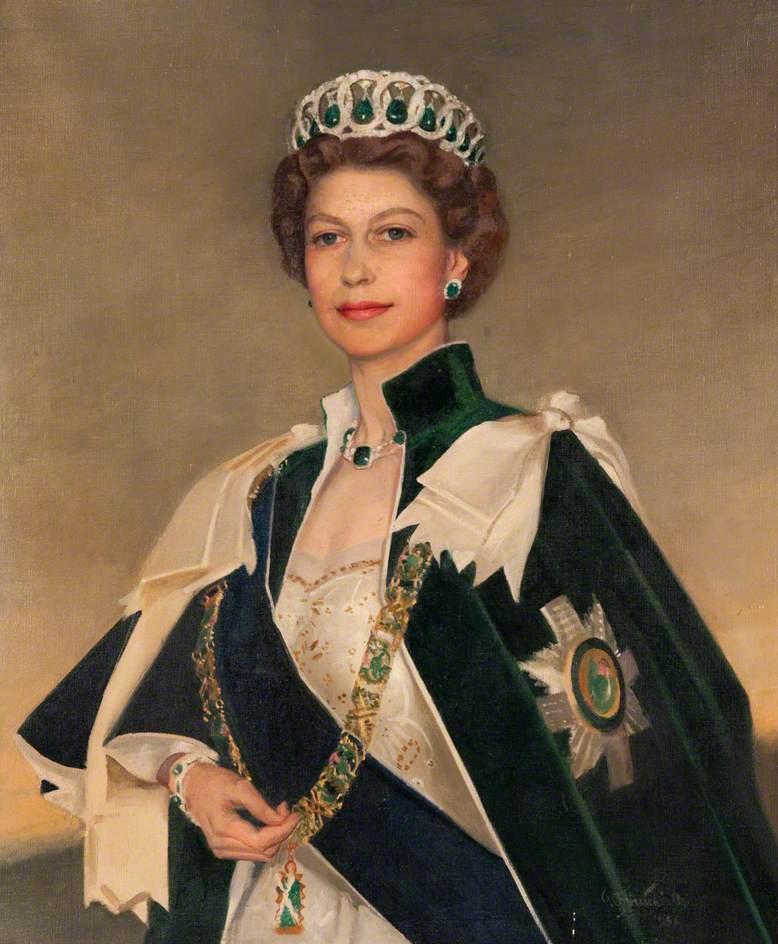 Her Majesty Queen Elizabeth II (b.1926) by William Oliphant Hutchison