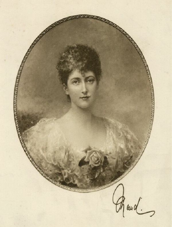 Мод, королева Норвегии Фредерик Джон Дженкинс, после  гелиогравюра Эдварда Хьюза (1897).