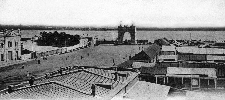 Вид на малый Сахалин 20 июля 1900 г. после взятия