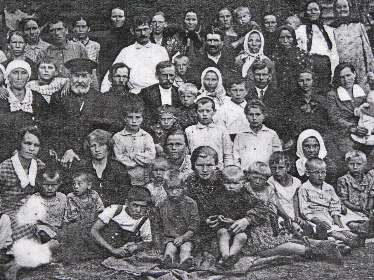 1936.  Первый колхоз в Ярославской губернии, д. Титово, Осецкая вол., Любимский у.