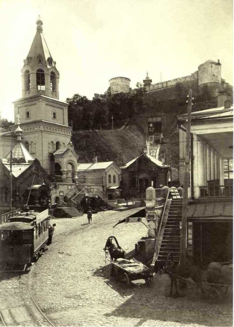 Фуникулер у стен Кремля.Нижний Новгород. 1910-е.