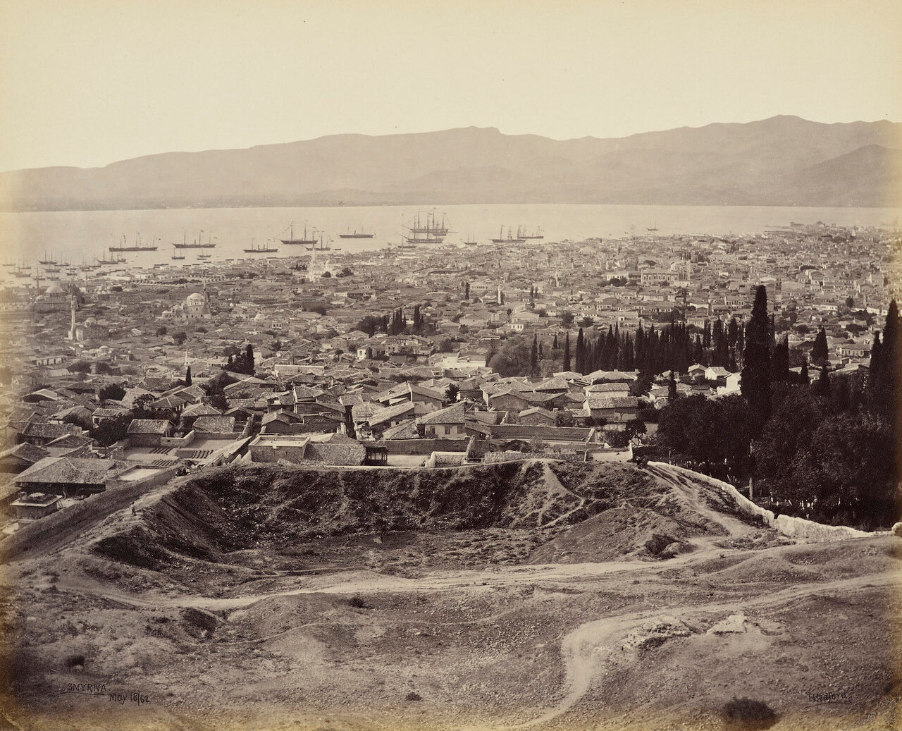 18 мая 1862. Смирна. Город и гавань