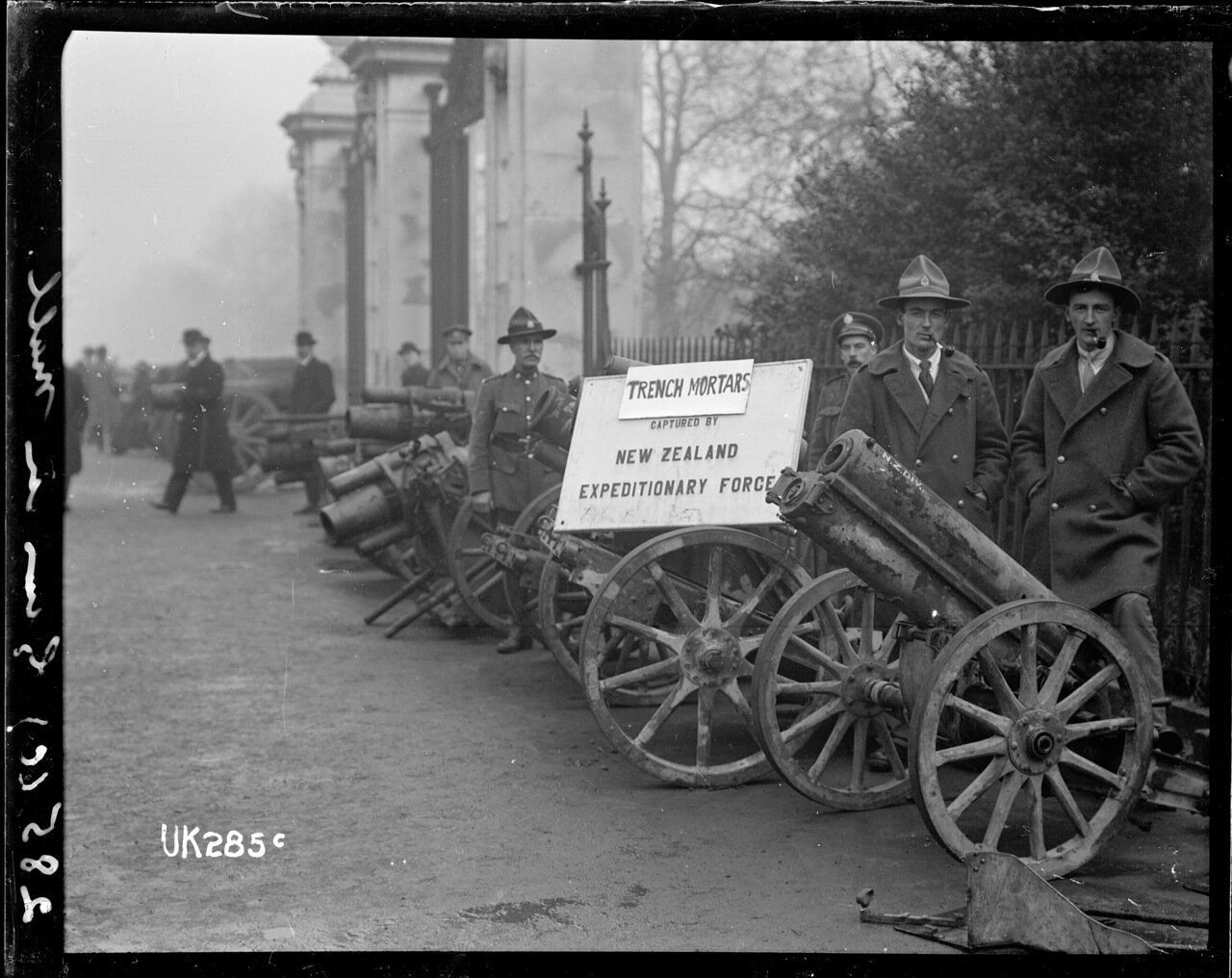 Минометы, захваченые новозеландцами в Первой мировой войне